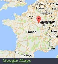 Argentenay, Chambre d'hôte , carte de situation