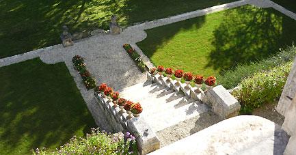 argentenay, Chambre d'hôte, l'escalier du jardin