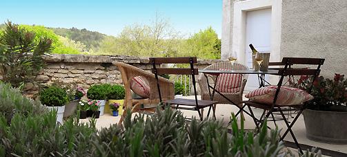 argentenay, Chambre d'hôte, la terrasse